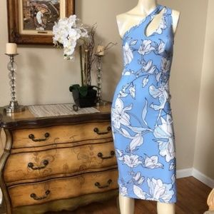 NWOT LF One Shoulder Midi Dress S